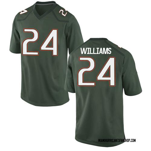 Men's Nike Christian Williams Miami Hurricanes Game Green Alternate College Jersey