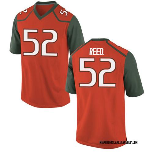 Men's Nike Cleveland Reed Jr. Miami Hurricanes Replica Orange College Jersey