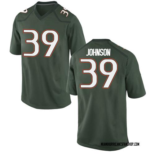 Men's Nike Dante Johnson Miami Hurricanes Game Green Alternate College Jersey