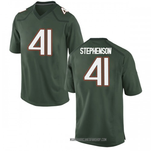 Men's Nike Darian Stephenson Miami Hurricanes Game Green Alternate College Jersey
