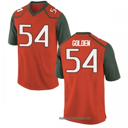 Men's Nike Devin Golden Miami Hurricanes Replica Orange College Jersey