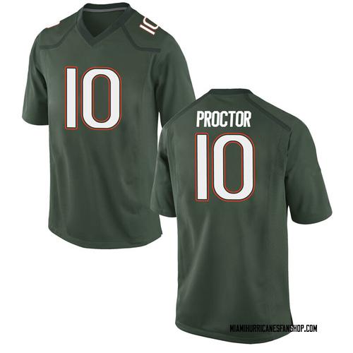 Men's Nike Dominic Proctor Miami Hurricanes Game Green Alternate College Jersey
