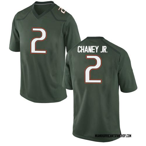 Men's Nike Donald Chaney Jr. Miami Hurricanes Game Green Alternate College Jersey