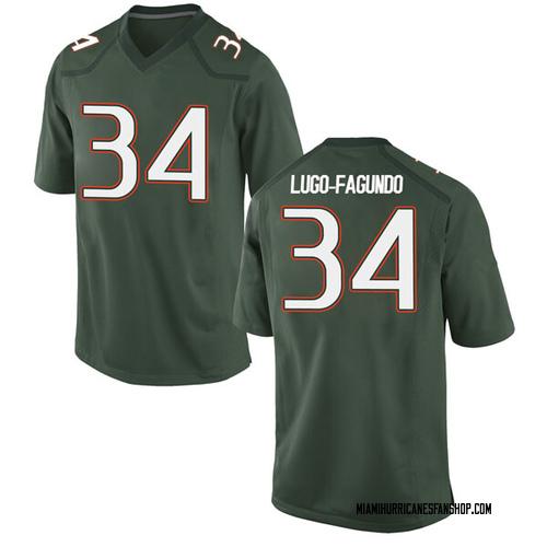 Men's Nike Elias Lugo-Fagundo Miami Hurricanes Game Green Alternate College Jersey