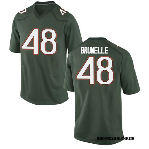 Men's Nike Evan Brunelle Miami Hurricanes Game Green Alternate College Jersey