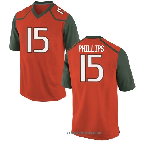 Men's Nike Jaelan Phillips Miami Hurricanes Replica Orange College Jersey