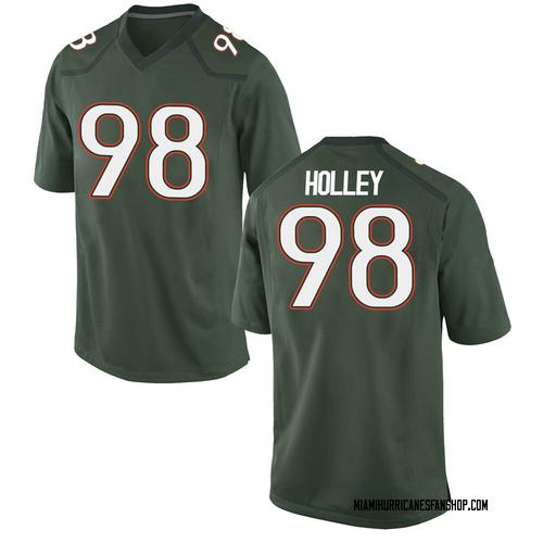 Men's Nike Jalar Holley Miami Hurricanes Game Green Alternate College Jersey