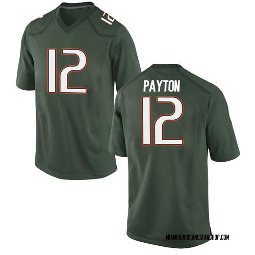 Men's Nike Jeremiah Payton Miami Hurricanes Replica Green Alternate College Jersey