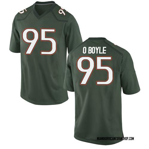 Men's Nike John O'Boyle Miami Hurricanes Game Green Alternate College Jersey