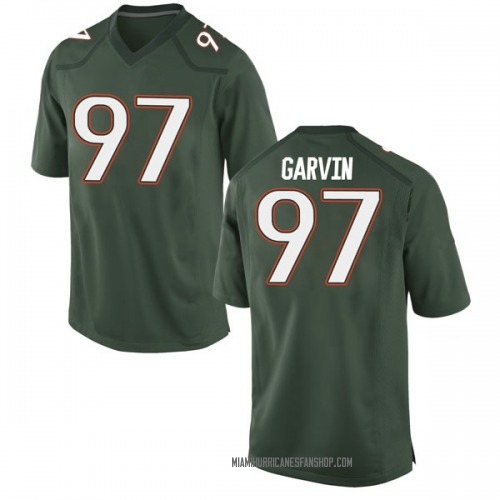 Men's Nike Jonathan Garvin Miami Hurricanes Game Green Alternate College Jersey