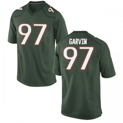 Men's Nike Jonathan Garvin Miami Hurricanes Replica Green Alternate College Jersey