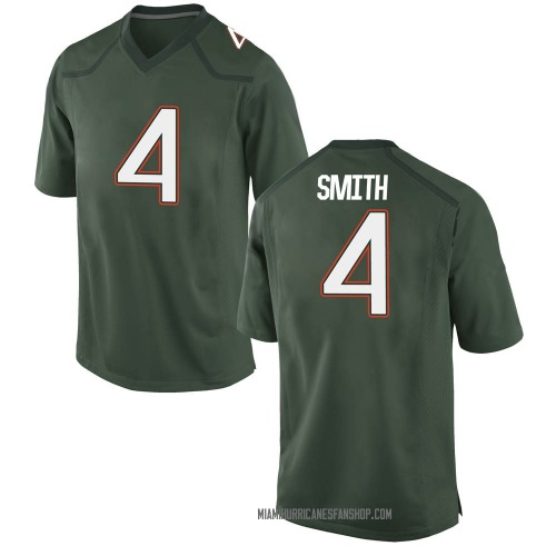 Men's Nike Keontra Smith Miami Hurricanes Replica Green Alternate College Jersey