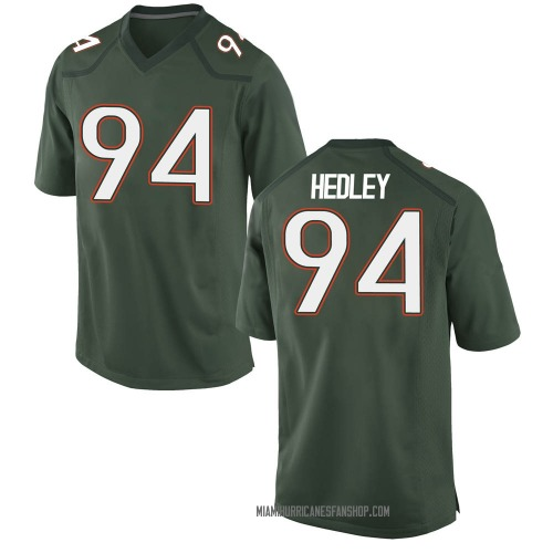 Men's Nike Lou Hedley Miami Hurricanes Game Green Alternate College Jersey