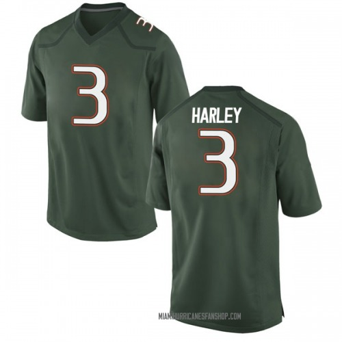 Men's Nike Mike Harley Miami Hurricanes Game Green Alternate College Jersey