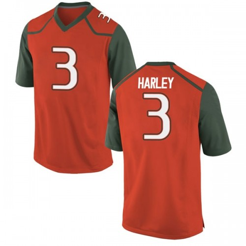 Men's Nike Mike Harley Miami Hurricanes Game Orange College Jersey