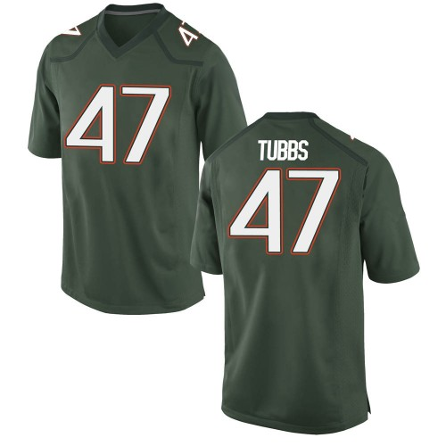 Men's Nike Mykel Tubbs Miami Hurricanes Game Green Alternate College Jersey