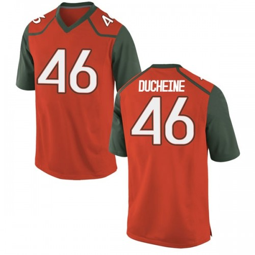Men's Nike Nicholas Ducheine Miami Hurricanes Game Orange College Jersey
