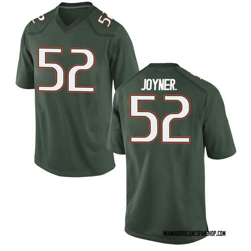 Men's Nike Patrick Joyner Jr. Miami Hurricanes Game Green Alternate College Jersey