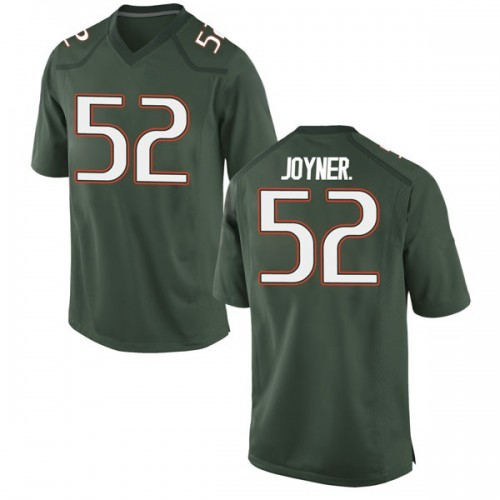 Men's Nike Patrick Joyner Jr. Miami Hurricanes Replica Green Alternate College Jersey