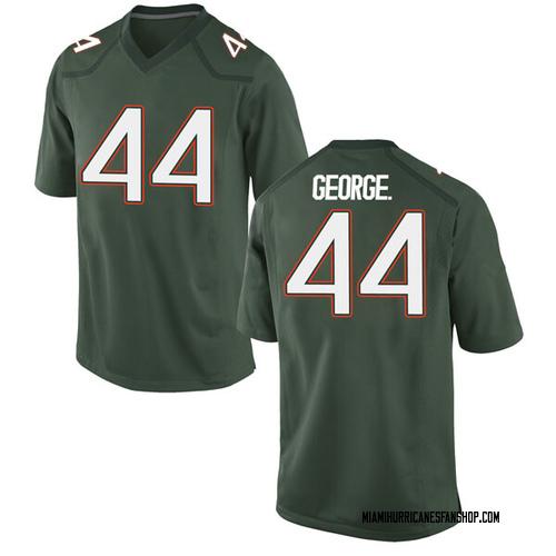 Men's Nike Realus George Jr. Miami Hurricanes Replica Green Alternate College Jersey