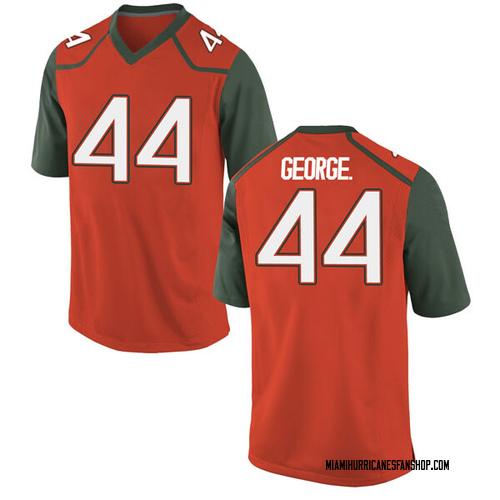 Men's Nike Realus George Jr. Miami Hurricanes Replica Orange College Jersey
