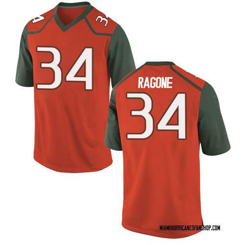 Men's Nike Ryan Ragone Miami Hurricanes Replica Orange College Jersey