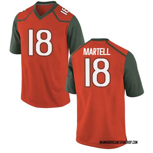 Men's Nike Tate Martell Miami Hurricanes Replica Orange College Jersey