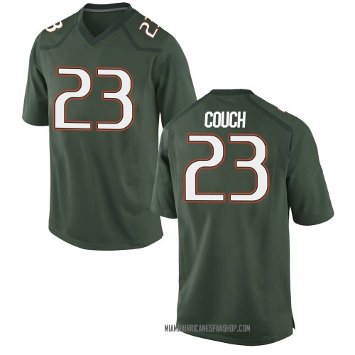 Men's Nike Te'Cory Couch Miami Hurricanes Game Green Alternate College Jersey