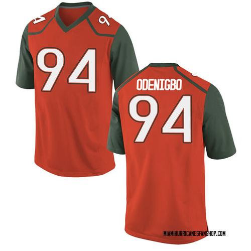 Men's Nike Tito Odenigbo Miami Hurricanes Game Orange College Jersey