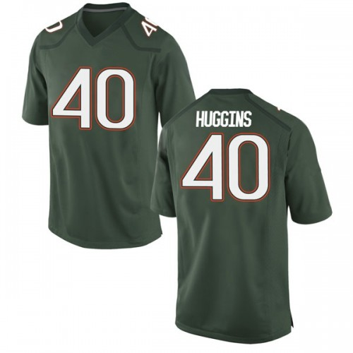 Men's Nike Will Huggins Miami Hurricanes Game Green Alternate College Jersey