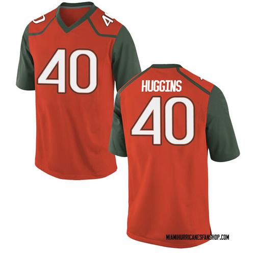 Men's Nike Will Huggins Miami Hurricanes Game Orange College Jersey