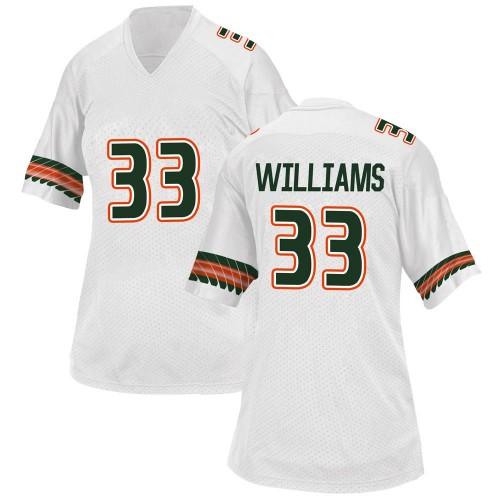 Women's Adidas Chantz Williams Miami Hurricanes Replica White Alternate College Jersey