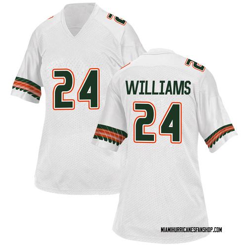 Women's Adidas Christian Williams Miami Hurricanes Game White Alternate College Jersey