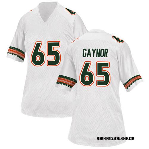 Women's Adidas Corey Gaynor Miami Hurricanes Replica White Alternate College Jersey