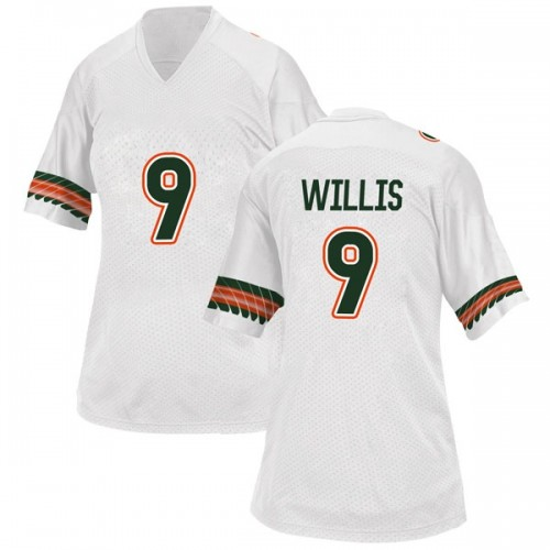 Women's Adidas Gerald Willis III Miami Hurricanes Game White Alternate College Jersey
