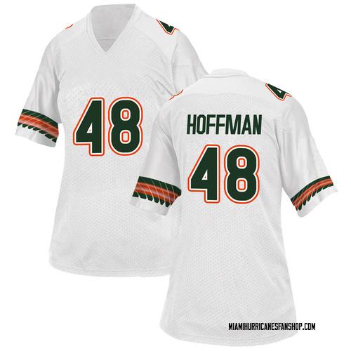 Women's Adidas Jake Hoffman Miami Hurricanes Replica White Alternate College Jersey