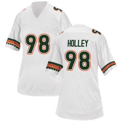 Women's Adidas Jalar Holley Miami Hurricanes Game White Alternate College Jersey