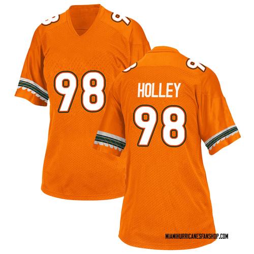 Women's Adidas Jalar Holley Miami Hurricanes Replica Orange Alternate College Jersey