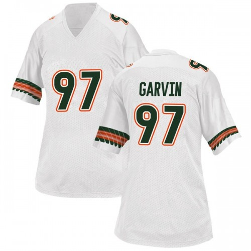 Women's Adidas Jonathan Garvin Miami Hurricanes Game White Alternate College Jersey