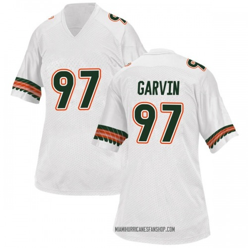Women's Adidas Jonathan Garvin Miami Hurricanes Replica White Alternate College Jersey