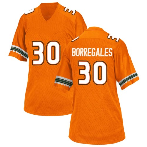 Women's Adidas Jose Borregales Miami Hurricanes Game Orange Alternate College Jersey