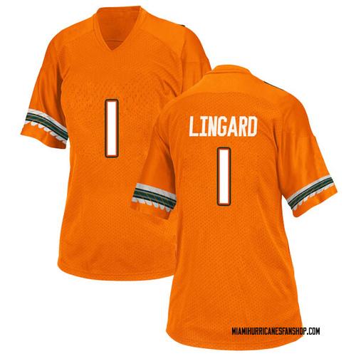 Women's Adidas Lorenzo Lingard Miami Hurricanes Game Orange Alternate College Jersey