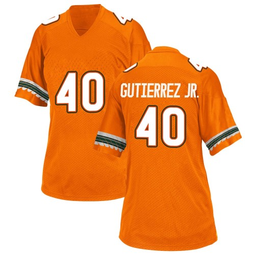 Women's Adidas Luis Gutierrez Jr. Miami Hurricanes Replica Orange Alternate College Jersey