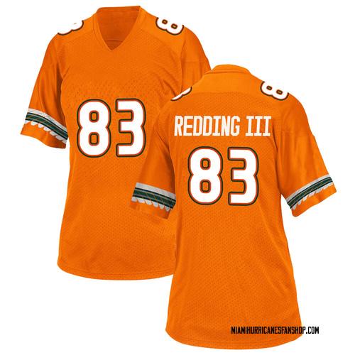 Women's Adidas Michael Redding III Miami Hurricanes Game Orange Alternate College Jersey