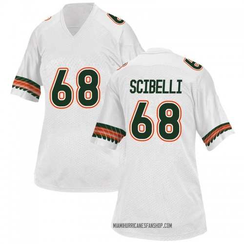 Women's Adidas Michael Scibelli Miami Hurricanes Replica White Alternate College Jersey