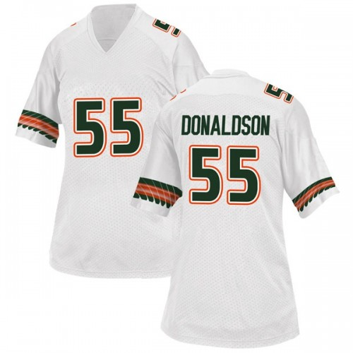 Women's Adidas Navaughn Donaldson Miami Hurricanes Game White Alternate College Jersey
