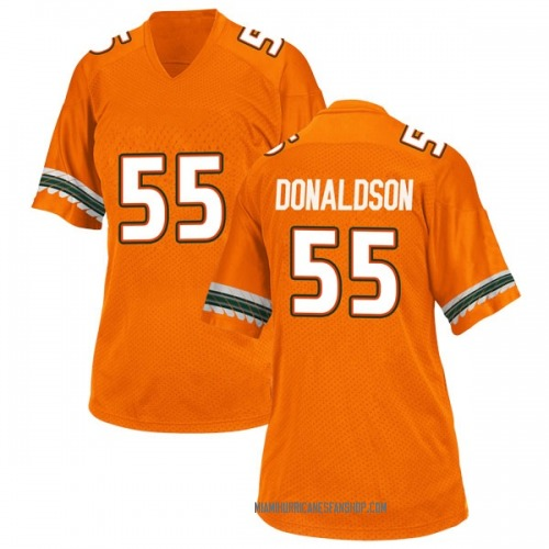 Women's Adidas Navaughn Donaldson Miami Hurricanes Replica Orange Alternate College Jersey
