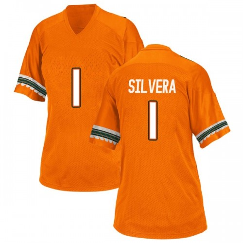 Women's Adidas Nesta Jade Silvera Miami Hurricanes Replica Orange Alternate College Jersey