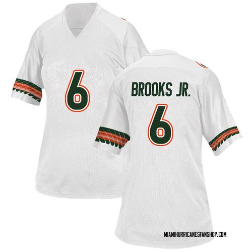 Women's Adidas Sam Brooks Jr. Miami Hurricanes Game White Alternate College Jersey