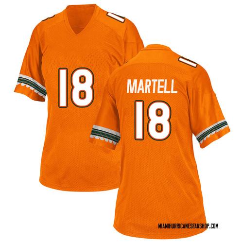 Women's Adidas Tate Martell Miami Hurricanes Replica Orange Alternate College Jersey